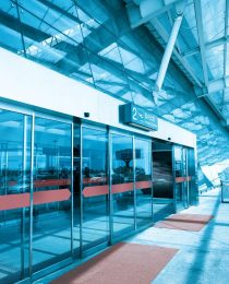 terminal entrance,automatic glass doors